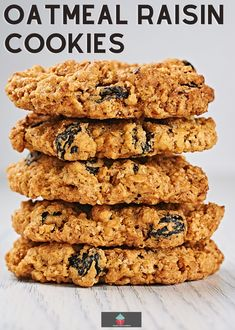 Oatmeal Raisin Cookies. Soft and chewy oatmeal raisin cookies, a simple cookie recipe using pantry ingredients to give you the best ever cookies! Amazing Cookie Recipes, Gluten Free Oatmeal, Oatmeal Chocolate Chip Cookies, Flour Recipes, Savoury Dishes, Winter Food, Us Foods, Recipe Using, Yummy Cakes