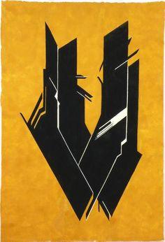 Pablo Palazuelo - Sin título; serie: De Somnis. 1997.