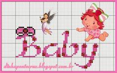 Salve o monograma Completo aqui: http://dinhapontocruz.blogspot.com.br/2014/06/monograma-baby-moranguinho.html