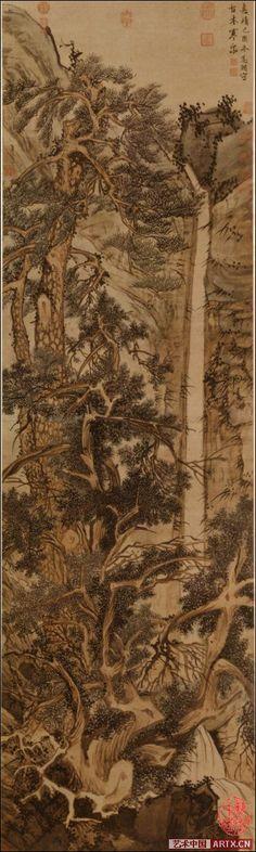 Wen Zhengming(文徵明) ,   古木寒泉图