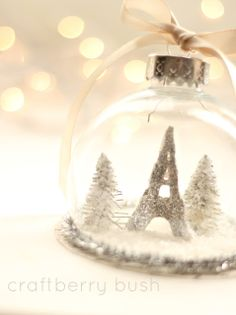 Craftberry Bush: Snowglobe Ornament - a tutorial