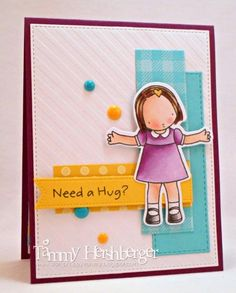 Color Throwdown #302 - Need a Hug? by stampertammy - Cards and Paper Crafts at Splitcoaststampers