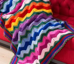 Stunning Rippling Throw - Free Crochet Pattern