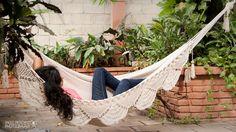Mayan Hammock | Soft Cotton Handwoven | Double stitch | Thick Thread