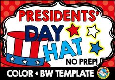 #presidents #day #hat ★★★This hat is perfect for Presidents' day but can be used for many #patriotic #celebrations