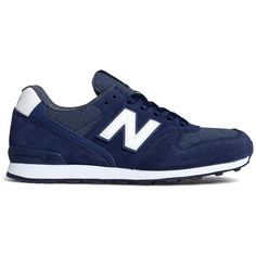 New Balance Shadows Lace Up Sneakers ($80) ❤ liked on Polyvore featuring shoes, sneakers, navy, lace up shoes, laced shoes, lacing sneakers, new balance shoes and navy blue sneakers