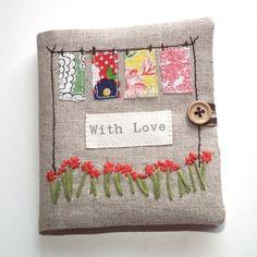 ♥ Vintage Feedsack Needle Book ♥