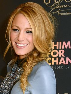 Blake Lively's perfectly messy side braid