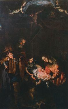 De geboorte van Christus, toegeschreven aan Domenico Fiasella