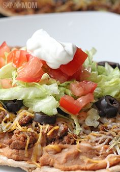 This skinny taco flatbread is delicious!