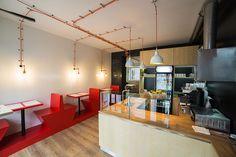 PROJEKTY · Návrh interiéru pizzerie AMICI v Brně na Palackého třídě  #pizza #pizzerie #brno #interier
