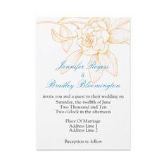 blue and orange wedding invitations - Google Search