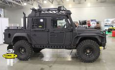 Russian LandRover Defender by Line-X love everything about this. I love the fact that I could run over a prius or really piss those people off in this...haha ...hahahahah...bahahahaha