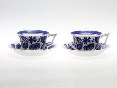 FRUKOSTKOPPAR, 2 st, flintporslin, Ursula Printz, Gustavsberg. Keramik & Porslin - Europeiskt – Auctionet