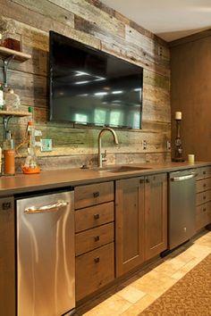 Rustic basement ideas basement rustic with reclaimed barn wood