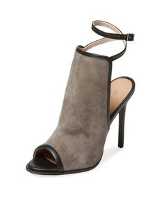 Harmony Peep Toe Open Back Bootie by Maiden Lane at Gilt