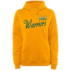 Wayne State Warriors Women's Plus Sizes Dora Pullover Hoodie - Gold - $49.99
