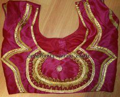 Saree Blouse Designs in Raw Silk | Saree Blouse Patterns