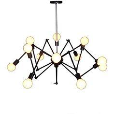 Beautiful Vintage Industrial Loft Droplight Lamp Metal Large Adjustable Hanging Spider Pendant Light in Red Black White Colors (Black) Generic http://www.amazon.co.uk/dp/B00WLXTY2E/ref=cm_sw_r_pi_dp_9IU3wb03XYEWX