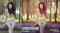 Color Effect With Blend And Mixing Texture Color Image Photoshop Tutorial