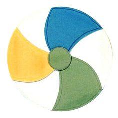 Beach Ball Paper-Piecing Pattern
