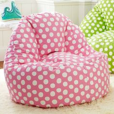 Painted Dot Pink Leanback Lounger   PBteen