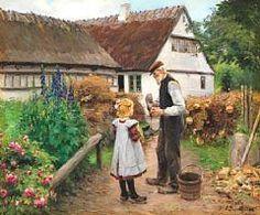 """""""Rønnebækatero en el pueblo Rønnebæk"""". Hans Andersen Brendekilde (Danish, 1857 - 1942)"""