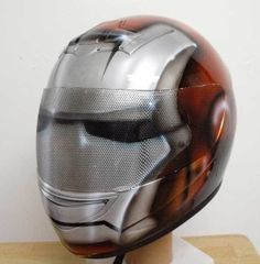 Custom Airbrushed Motorcycle Helmet Steampunk Ironman