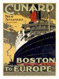 Cunard line vintage poster