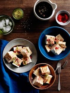 Cold tofu with vinegar, garlic and soy [photograph by ben dearnley, recipe by roy choi, styling by lynsey fryers-hedrick]