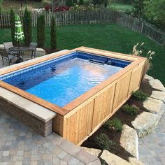 Backyard Pools Small Backyard Pool Backyard Swimming Backyard Pools Small Back. pool ideas above ground Swimming Pool Pictures, Small Swimming Pools, Above Ground Swimming Pools, Small Pools, Swimming Pools Backyard, Pool Spa, Swimming Pool Designs, In Ground Pools, Small Pool Ideas