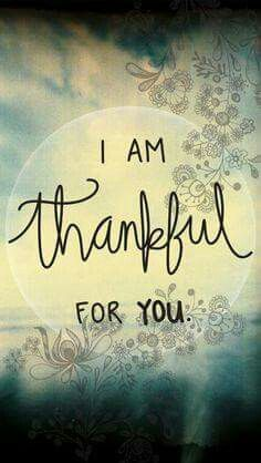 I am thankful for you everyday FH!  I love you so much!