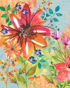 Watercolor Flower Art by Lori Siebert por LoriSiebertStudio en Etsy
