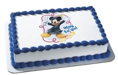 Mickey Mouse Graduate Way To Go Personalized Edible Cake Image Topper * Click affiliate link Amazon.com on image to review more details.