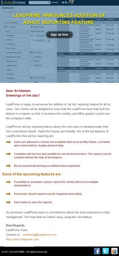Hurray!!! LeadPrime gets a new feature.