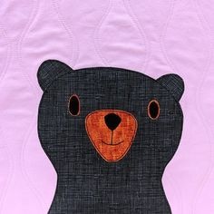 So many cute bears! Make a cuddly bear quilt in your favorite colors! The pattern includes templates for thirteen adorable bears. Applique Patterns, Quilt Patterns, Applique Ideas, Pattern Design, My Design, Rainbow Sherbet, Quilt As You Go, Machine Applique, Cute Bears