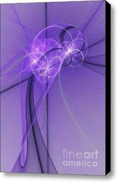 Amazon.com - Purple Illusion Canvas Print / Canvas Art - Artist Gabiw Art