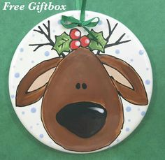 Christmas Ornament Reindeer Ornament Baby's 1st