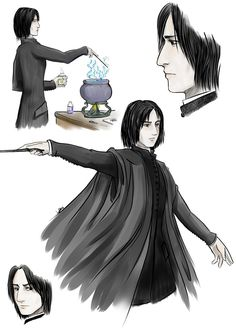 Professor Snape by lapaowan
