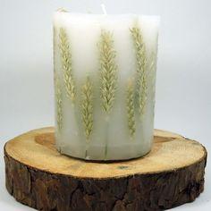 świeczka ze zbożem Pillar Candles, Candle Holders, Smartphone, Decorating, Candlesticks, Dekoration, Decoration, Porta Velas, Dekorasyon