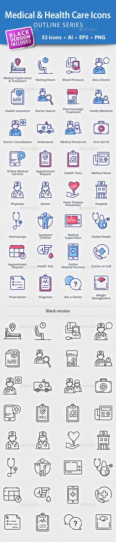 Medical & Health Care Icons  Outline Series — Vector EPS #diagnosis #medical care • Available here → https://graphicriver.net/item/medical-health-care-icons-outline-series/20277173?ref=pxcr