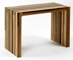 I have been in love with this company for years.  Someday I want to own one of their pieces.  All of the furniture is made from repurposed wood.  So beautiful.