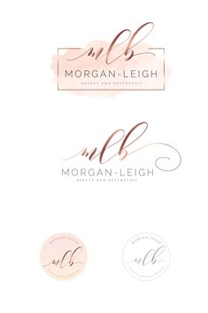 Spa Logo, Makeup Artist Logo, Lashes Logo, Watercolor Logo, Small Letters, Social Media Branding, Branding Kit, Photography Logos, Business Card Logo