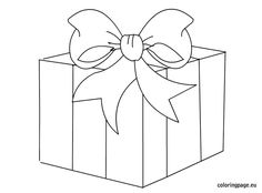 Printable christmas gift boxes coloring pages