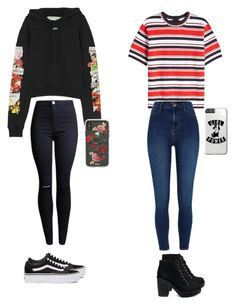 """""""school outfits"""" by nathalieluyten on Polyvore featuring mode, Off-White, Marc Jacobs, River Island, Vans en Sonix"""