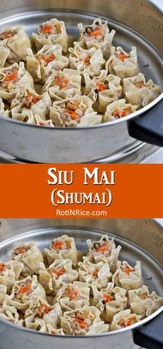 Siu Mai (Shumai) are tasty open-faced dumplings filled with ground pork, shrimps, and other add-ins. They are one of the most popular dimsum offering that can be easily made at home. Chinese Recipes, Chinese Food, Asian Recipes, Indonesian Recipes, Indonesian Food, Rice Recipes, Cooking Recipes, My Favorite Food, Favorite Recipes