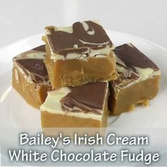 This Bailey's Irish Cream White Chocolate Fudge is easy to make, tastes absolutely delicious, and is the perfect amount of rich amazingness! A splash of Bailey's liqueur adds another dimension to the creamy white chocolate