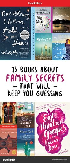 15 Books About Family Secrets That Will Keep You Guessing These books worth reading feature husbands with double lives, mothers with hidden pasts, dark family histories, and more! I Love Books, Good Books, Books To Read, My Books, Book Club Books, Book Nerd, The Book, Book Clubs, Book Series