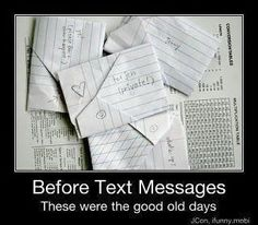 Remember all the time spent folding notes and exchanging them during class?