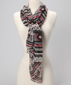 Take a look at this Gray Tribal Scarf by Dily on #zulily today!